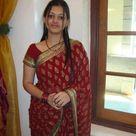 Indian girl in beautiful red saree fashion