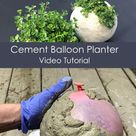 VIDEO Tutorial: Machen Sie einen runden Zementpflanzer mit einem Ballon. Eine Schritt-für-Schritt-Anleitung, wie man …