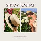 @Amazwoven posted to Instagram: A lovely straw-woven sun hat makes you look more stylish.Now available at our online shop(amazwoven.com), link at bio 10% off Code: New10 . . . #sunhat #sunhats #panamahat #womenhats #hats #hat #cap