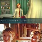 So not true. And yet Harry is the one who always landed in the hospital wing at school! 1st year:Quirrell/Voldemort tries to kill him. 2nd year:Professor Lockhart takes all of his bones out of his arm. 3rd year:Dementor attacks him 3 times(4 if you wanna count the time where they went back in time),fell from the sky because Dementors attacked him.