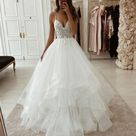 A line Spaghetti Straps Vintage Tulle Modest Beach Wedding Dresses WD021   US14 / Custom Colorleaving a note