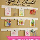 (diy tutorial) child art gallery wall - See Vanessa Craft