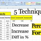 Percentage Formula in Excel by learning center in Urdu/Hindi