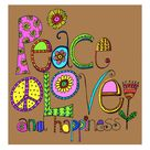 Peace love and happiness on pinterest peace signs for Peace love happiness tattoo