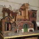 presepe napoletano tempio x pastori 10 12 cm crib 30x25 h50cm  nic a40 • EUR 120,00