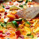 Thai-Gemüse-Curry mit Kokosmilch (30 Minuten!) - Kochkarussell