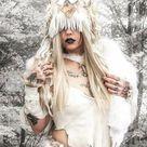 White Fox Fur Barbarian Costume Shamanic Tribal Garb Pelt   Etsy