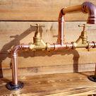 Copper Pipe Swivel Mixer Wasserhahn Wasserhähne - Counter Top Bowl