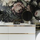 Gild your Malm dresser with gold contact paper.
