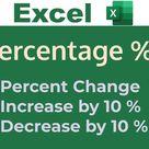 Percentage Formulas in Excel   Change, Increase, Decrease