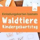 Einladungskarte Kindergeburtstag basteln: Waldtiere - Der Blog für Regenbogenfamilien