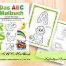 Das ABC Malbuch  Alphabet Malvorlagen und Übungsblätter zum | Etsy