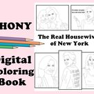 Real Housewives New York Digital Coloring Book // Instant | Etsy