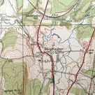 Antique Greenfield, Massachusetts 1941 US Geological Survey Topographic Map- Montague, Turners Falls, Deerfield Academy, Sunderland, Wapping