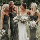 SP1244,Olive Green Spaghetti Straps Sheath Bridesmaid Dresses,Wedding Paert Gown