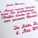 Gift for the mother-in-law for the wedding - embroidered handkerchief made of fabric - gift mother o