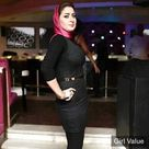 Arabic girl in tight black dress