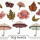 Fall Autumn NYC Style Fashion Girl Clip Art Watercolor Clipart | Etsy