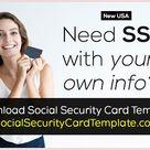 Social Security Card Font Generator [Download SSN]