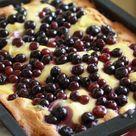 Heidelbeer-Pudding-Kuchen - Rezept mit Bild