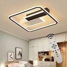 CBJKTX LED Deckenleuchte Deckenlampe 55cm 53W dimmbar mit Fernbedienung Wohnzimmerlampe Eisen Kronleuchte Kinderzimmer Lampe Esszimmerlampe Schlafzimmerlampe Badezimmerlampe Flurlampe