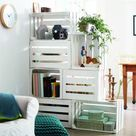 De leukste room divider maak je van oude fruitkistjes - Roomed