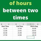 Get number of hours between two times   Excel Tutorials