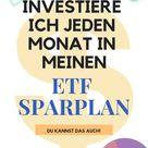 Mein ETF Sparplan im Überblick. - So sieht ein gutes ETF Depot aus!