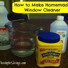 Homemade Window Cleaners