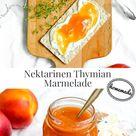 Geschenke aus der Küche: Nektarinen Thymian Marmelade