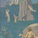 Pierre Puvis de Chavannes, 1896 - Dramatic Poetry (Aeschylus) - fine art print - Metal print (Aluminium Dibond) / 50x100cm - 20x39