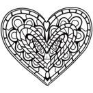 Heart Zentangle coloring page | Free Printable Coloring Pages