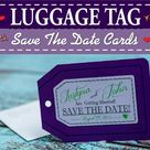Destination luggage tag save the dates for your tropical wedding or overseas wedding & 100% customiz