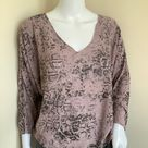 Dawn Double Layer Reptile Print Top   Pink