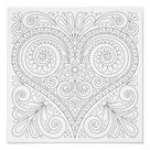 Abstract Heart Coloring Poster - Colorable Poster | Zazzle.com