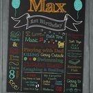 First Birthday Chalkboard