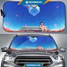 Anime Girl Bench Alone Blue Sky 4K Car Sun Shade