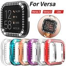 Double Rows Bling Diamonds Watch Case for Fitbit Versa 2/ Versa Shiny Cover Crystal Bumper PC Plated Hard Protective Frame miniinthebox