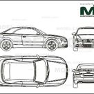 Audi S4 Cabriolet 2005   Disegno 2D   25529   Model COPY   Italiano