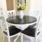 How I Stained and Painted My Pedestal Kitchen Table ~ Kay's Place