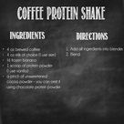 Coffee Protein Shakes
