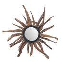 SIT Möbel Wand-Spiegel mit sonnenförmigen Rahmen   Suar-Holz natur   B 90 x T 8 x H 90 cm   07996-54   Serie ROMANTEAKA