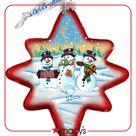 G.DeBrekht Holiday Snowman Play North Star Glass Ornament - Multi
