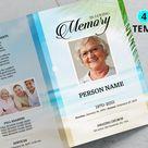 SKY | Funeral Program Template, Obituary Program, Memorial Program Template, Microsoft Word and Publisher Template
