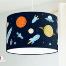 Lamp Space Nursery in Dark Blue made of organic cotton - all colors possible