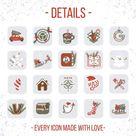 Christmas iOS14 App Icons, Winter App Icons, Christmas App Icons, Iphone Christmas iOS14, iOS14 Watercolor Christmas, App iPhone Christmas