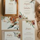 JUNIPER  Boho Fall Wedding Collection Wedding Invitation   Etsy