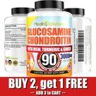 Glucosamine Chondroitin with COLLAGEN TYPE II 2 MSM Turmeric Ginger 3000MG 90ct Ad , PAID, TYPEIIMSM