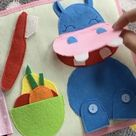 Quiet book PikaBooK, handmade busy book for baby, Montessori activity, sensory book, felt book
