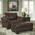 Roleson Walnut Leather Living Room Set from Ashley